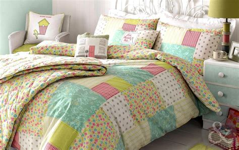 Patchwork Bed Cover - kirstie allsopp luella patchwork bedding floral 100