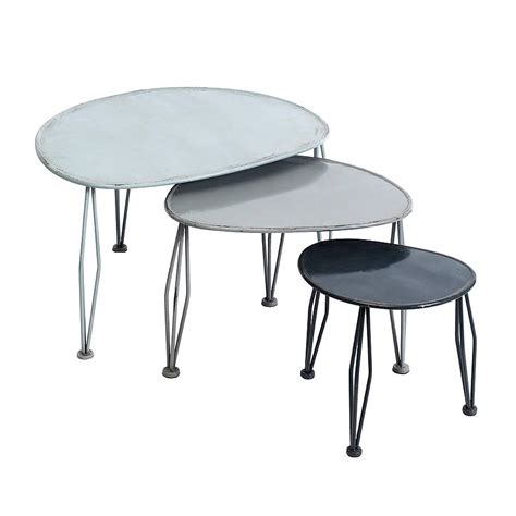 Nested Tables Metal Nesting Tables By Bell Amp Blue Notonthehighstreet Com
