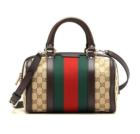 Gucci 8802 Top Handle Material Leather 1 gucci s vintage web original gg canvas boston bag