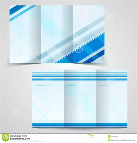 double sided tri fold brochure template 4 best agenda