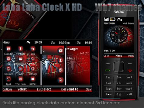 nokia x2 watch themes laba laba clock x hd theme x2 00 i free nokia series 40