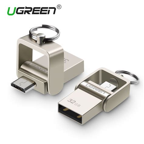 Otg 64gb ugreen usb flash drive 64gb metal otg pendrive high speed usb memory stick 32gb pen drive real