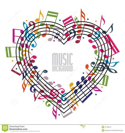 google imagenes con notas musicales coraz 243 n hecho con las notas musicales y la clave
