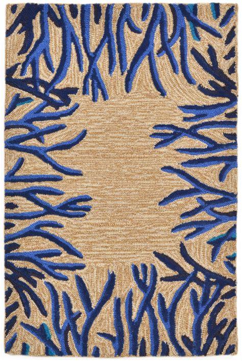 transocean rugs trans spello 2173 03 coral bdr cobalt area rug