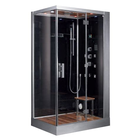 ariel 47 in x 35 4 in x 89 1 in steam shower enclosure