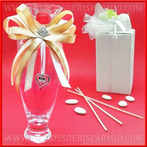 vasi bomboniere vasi di vetro decorati strass e cuore bomboniere
