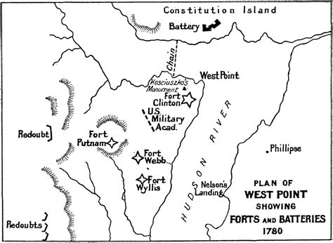 west point history of the american revolution the west point history of warfare series books plan of west point showing forts and batteries