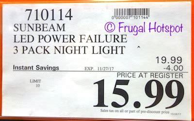 sunbeam power failure night light manual costco sale sunbeam color changing led power failure