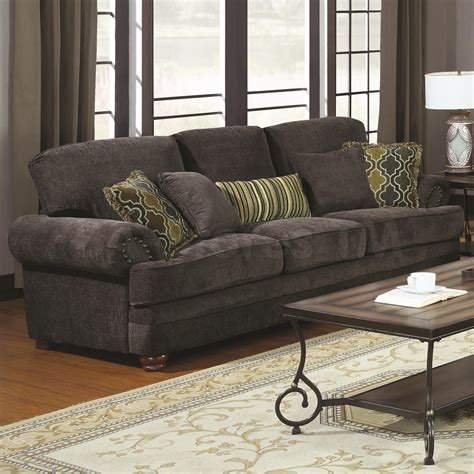 cushions for grey sofa 674 10 colton smokey grey chenille sofa with rolled arms