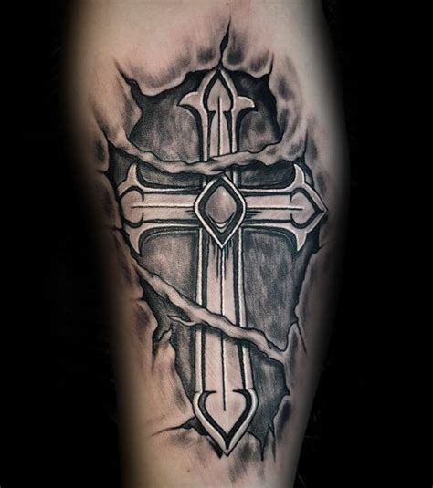 50 badass cross tattoos for men manly design ideas