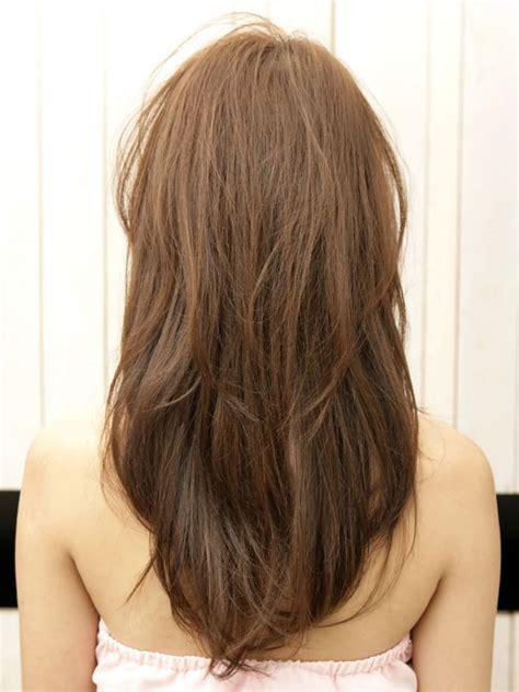 model rambut wanita dilihat  belakang model rambut