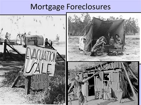 the great depression housing foreclosures the great depression unit 7 ppt download