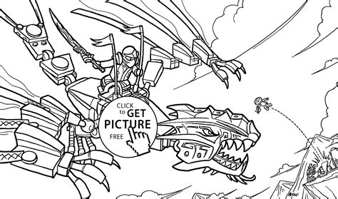 ninja dragon coloring pages ninjago attack coloring pages for kids printable free