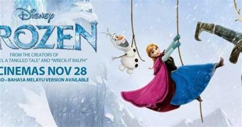 film frozen dalam bahasa melayu review disney frozen anna puteri salji bm budak