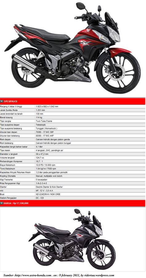 Honda Cs Spesifikasi Honda Cs 1 City Sport One Ridertua