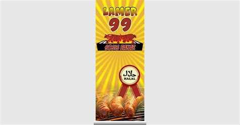 spanduk banner sosis bakar format cdr pakar