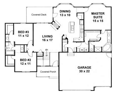 Double Wide Floor Plans With Photos House Plan 62625 At Familyhomeplans Com