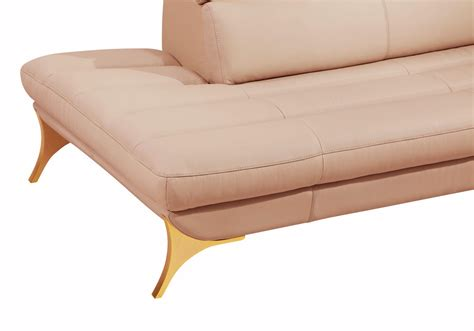 Pink Leather Sectional by Divani Casa 1541 Modern Pink Leather Sectional Sofa