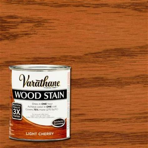 varathane 1 qt 3x light cherry premium wood stain 266258 the home depot