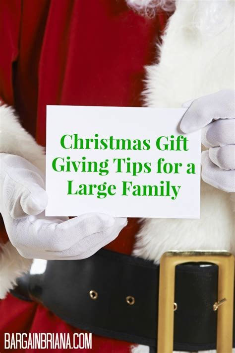 christmas gift giving tips for a large family bargainbriana