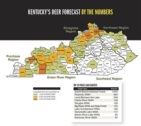 kentucky demographic map kentucky deer forecast for 2015 fish