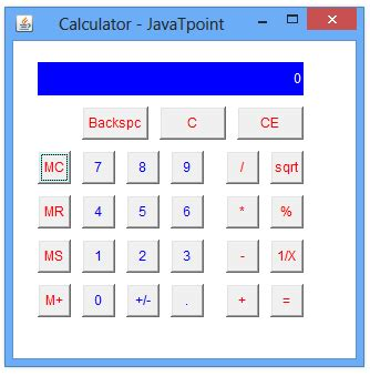 calculator java calculator in java with source code javatpoint