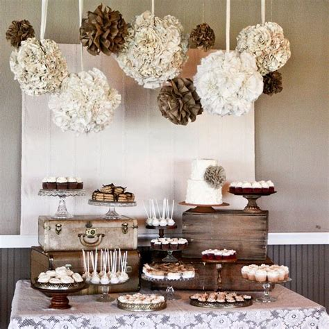 Rustic Wedding Dessert Table Ideas | planning a diy wedding 5 simple dessert table ideas