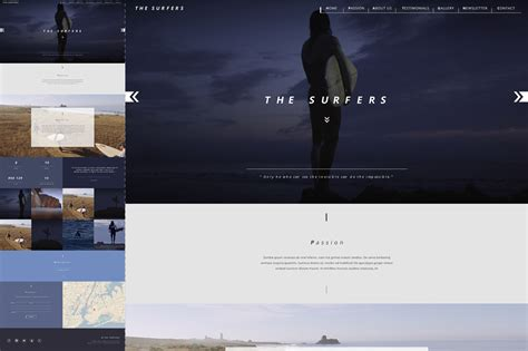 surfers one page html5 template themes templates