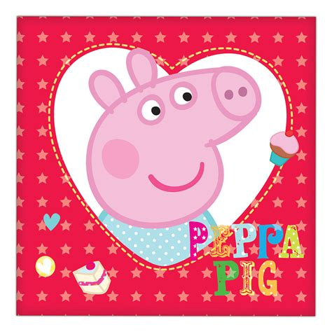 peppa pig peppa loves b01lw9ie6d peppa pig lunch napkins