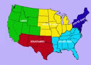 us map showing regions lets study the us home