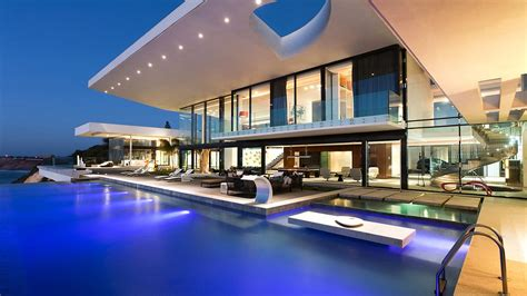 modern house images modern house with a pool wallpaper 15037