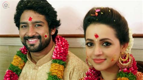 actress bhavana married actress bhavana marriage engagement pics with producer