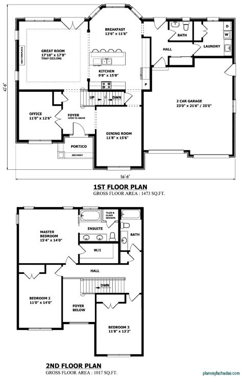 Floor Plans For Houses Free 15 Planos De Casas Peque 241 As De Dos Pisos Planos Y