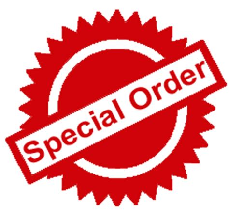 Special Order special orders