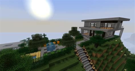 minecraft small modern house ruked on minecraft modern house schematics 02 small