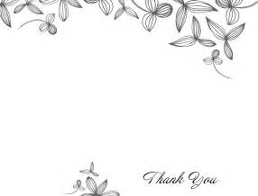 Print At Home Wedding Programs Delicate Flower Thank You Card