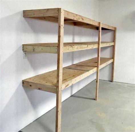 easy garage shelves 20 diy garage shelves to meet your storage needs home
