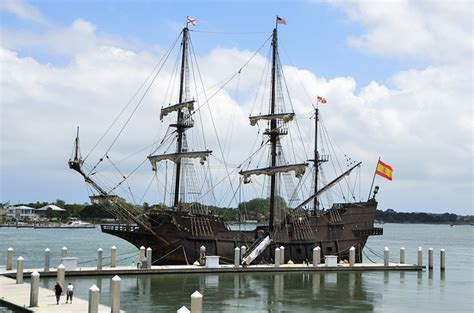 to dock a boat in spanish galleon ship moored docked 183 free photo on pixabay