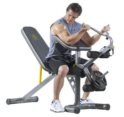 bench workout gold s gym xrs 20 olympic bench review