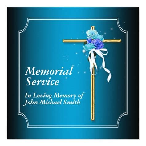 memorial service templates free memorial service invitation announcement memory 5 25