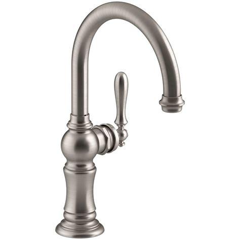 Spigot Vs Faucet by Kohler Artifacts Swing Spout Single Handle Standard Kitchen Faucet In Vibrant Stainless K 99264