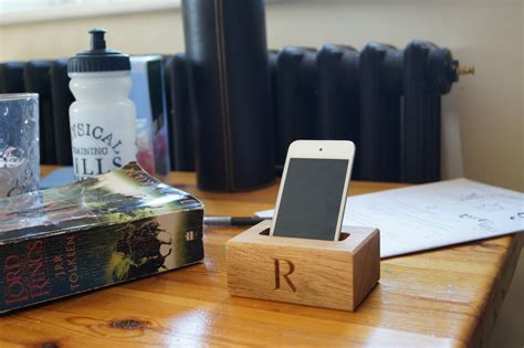 Engraved Desk Sign Wooden Phone Holders Makemesomethingspecial Co Uk