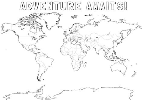 printable world map sections 7 geography resources for children
