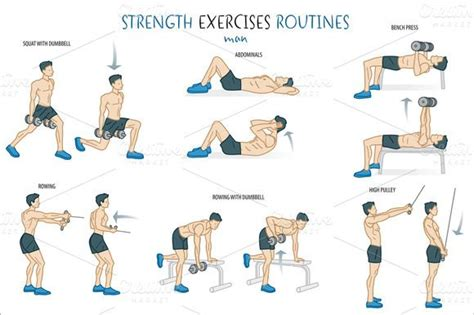 8 Important Pre Workout Activities by Check Out Strength Exercise Routine By Artica On Creative