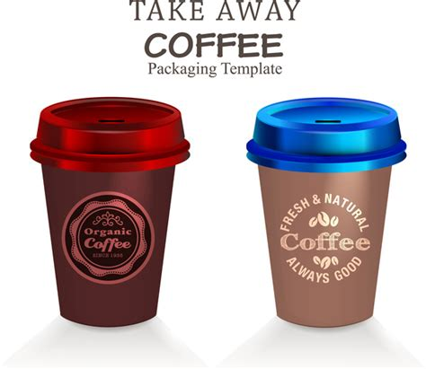adobe illustrator packaging templates packaging template vector with take away coffee cups free