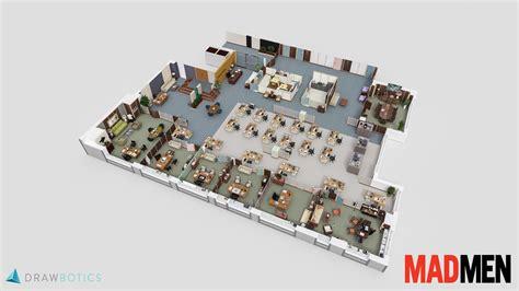 reddit 3dfloorplans the 3d floor plan of sterling cooper what the office of