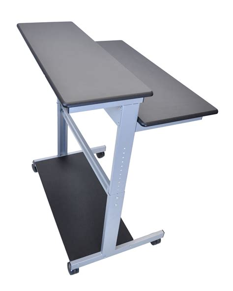 adjustable standup desk luxor desktop laptop tablet computing adjustable stand up