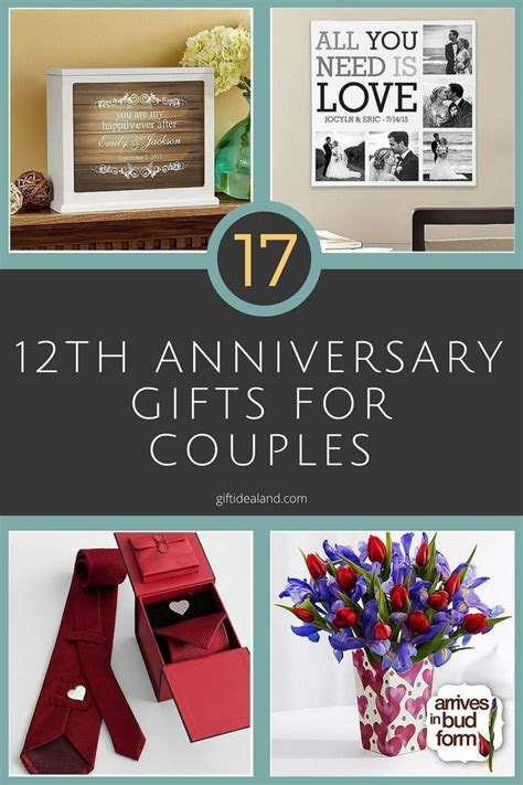 Wedding Anniversary Gift Ideas For Couples by 35 12th Wedding Anniversary Gift Ideas For Him