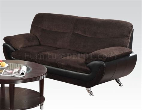 Wilona Black 51275 wilona sofa chocolate black by acme w options