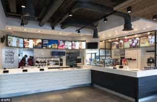 kitchen design store kfc unveils new store designs featuring brick walls